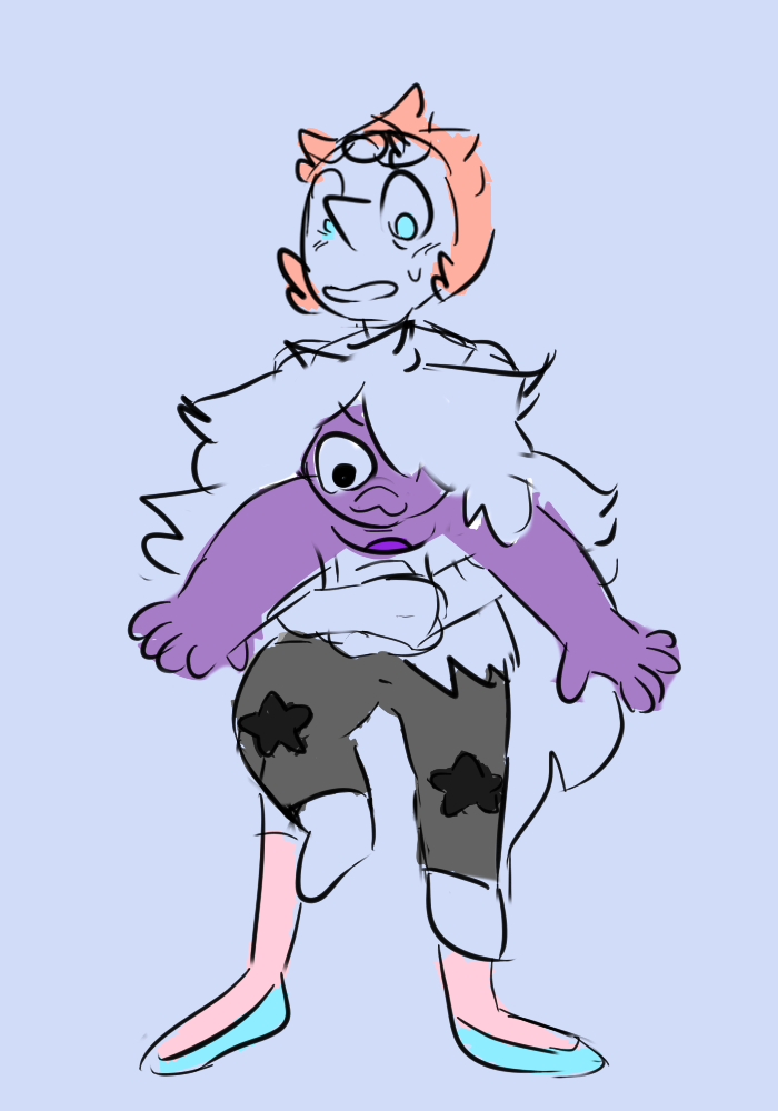 pearl carrying amethyst like she did in the past