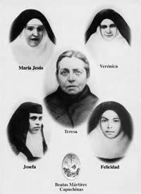 Mara Teresa Ferragud Roiq y sus 4 hijas, Beatas