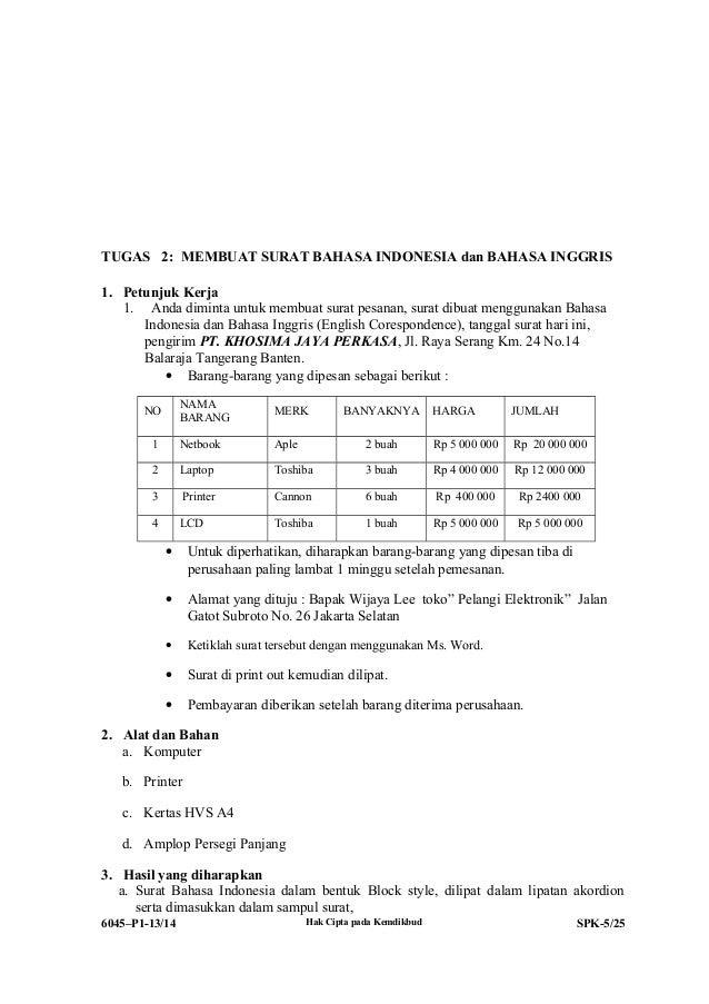 contoh surat pesanan reservasi bahasa inggris contoh