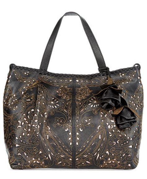 patricia nash laser lace zola top zip satchel handbags