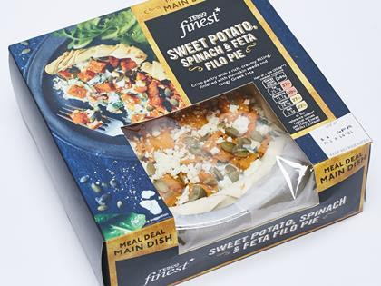Tesco Finest Sweet Potato, Spinach & Feta Filo Pie