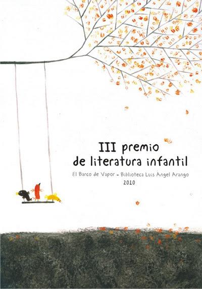 Cartel promocional para el premio de literatura de el barco de vapor y la biblioteca Luis Angel Arango, Bogotá, 2010
