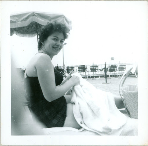 Lady with beach towel