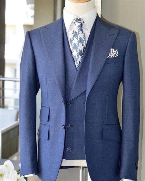 2018 Latest Coat Pant Design Light Blue Men Suit Slim Fit