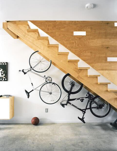 bike racks under stairs mod