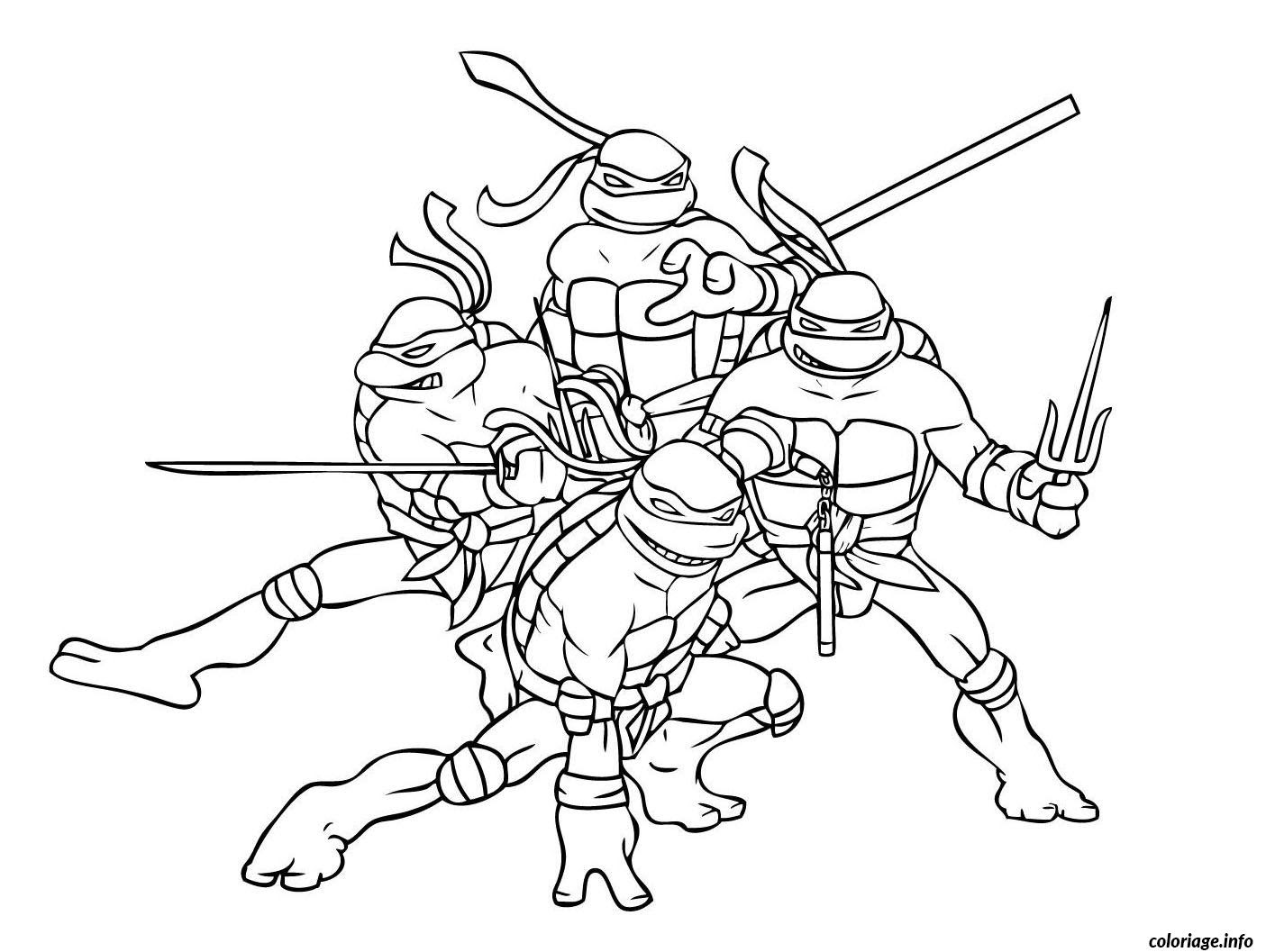 Coloriage Tortue Ninja 2 Dessin  Imprimer