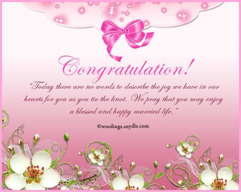 Congratulations Wedding Messages