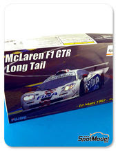 Maqueta de coche 1/24 Fujimi - McLaren F1 GTR Long Tail Fina - Nº 42 - Nelson Piquet + Jyrki Juhani Jarvilehto + Steve Soper - 24 Horas de Le Mans 1997 - maqueta de plástico