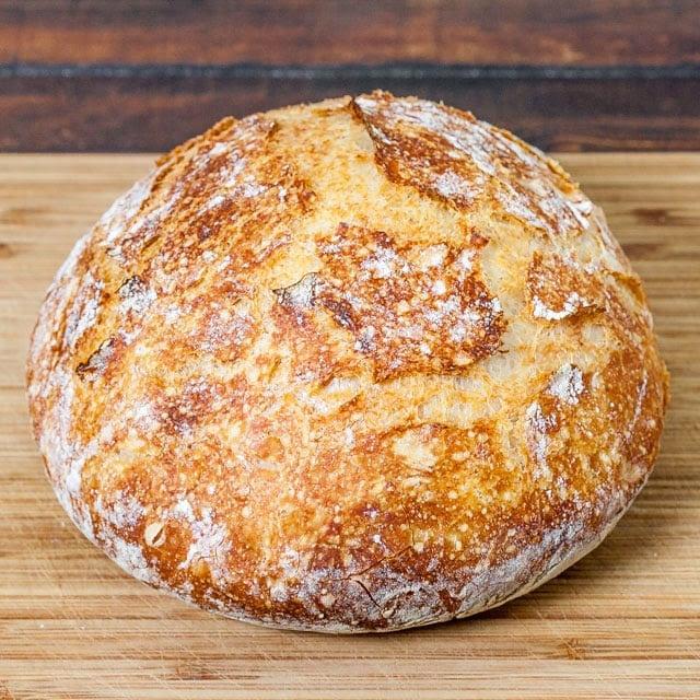No Knead Dutch Oven Crusty Bread - Jo Cooks
