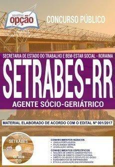 Apostila Concurso SETRABES 2018 | AGENTE SÓCIO-GERIÁTRICO