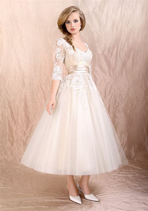 Tea Length Wedding Dresses With Sleeves   A Trusted