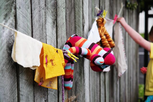 Hazel's clothesline closeup