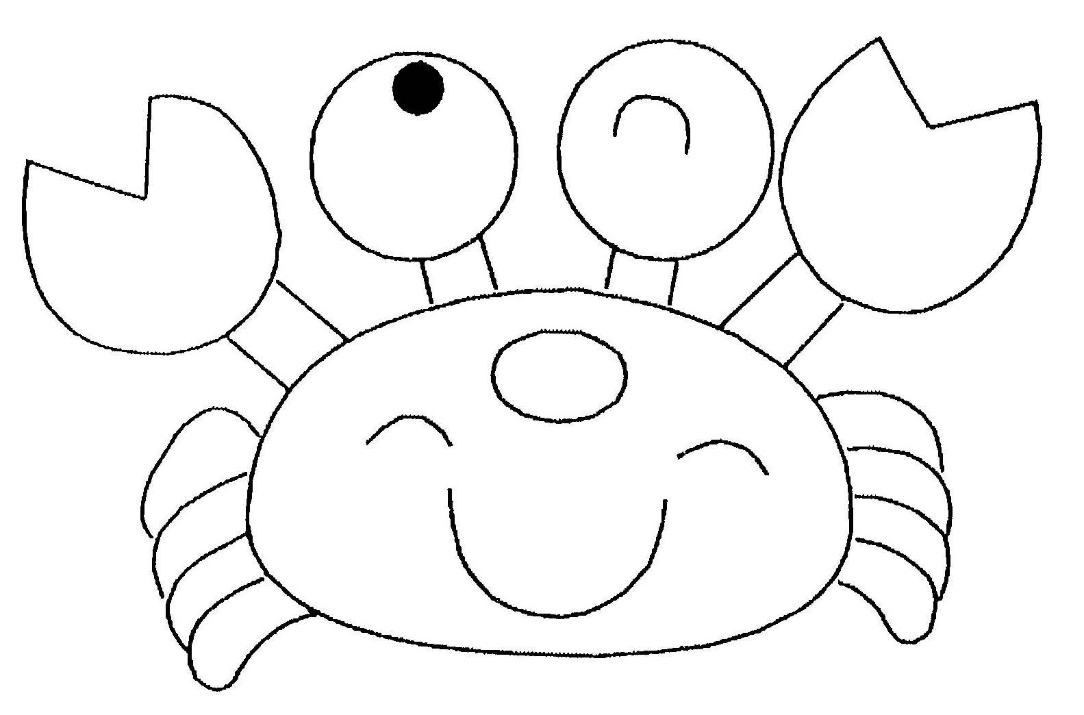 Coloriage de crabe