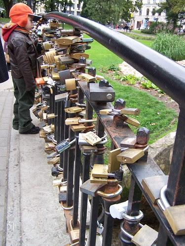padlocks on the bridge