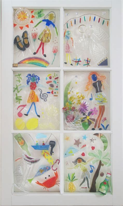 Funky Junky Fused Glass Windows