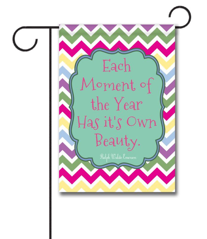 Spring Chevron  Quote Garden Flag  12.5\u002639;\u002639; x 18