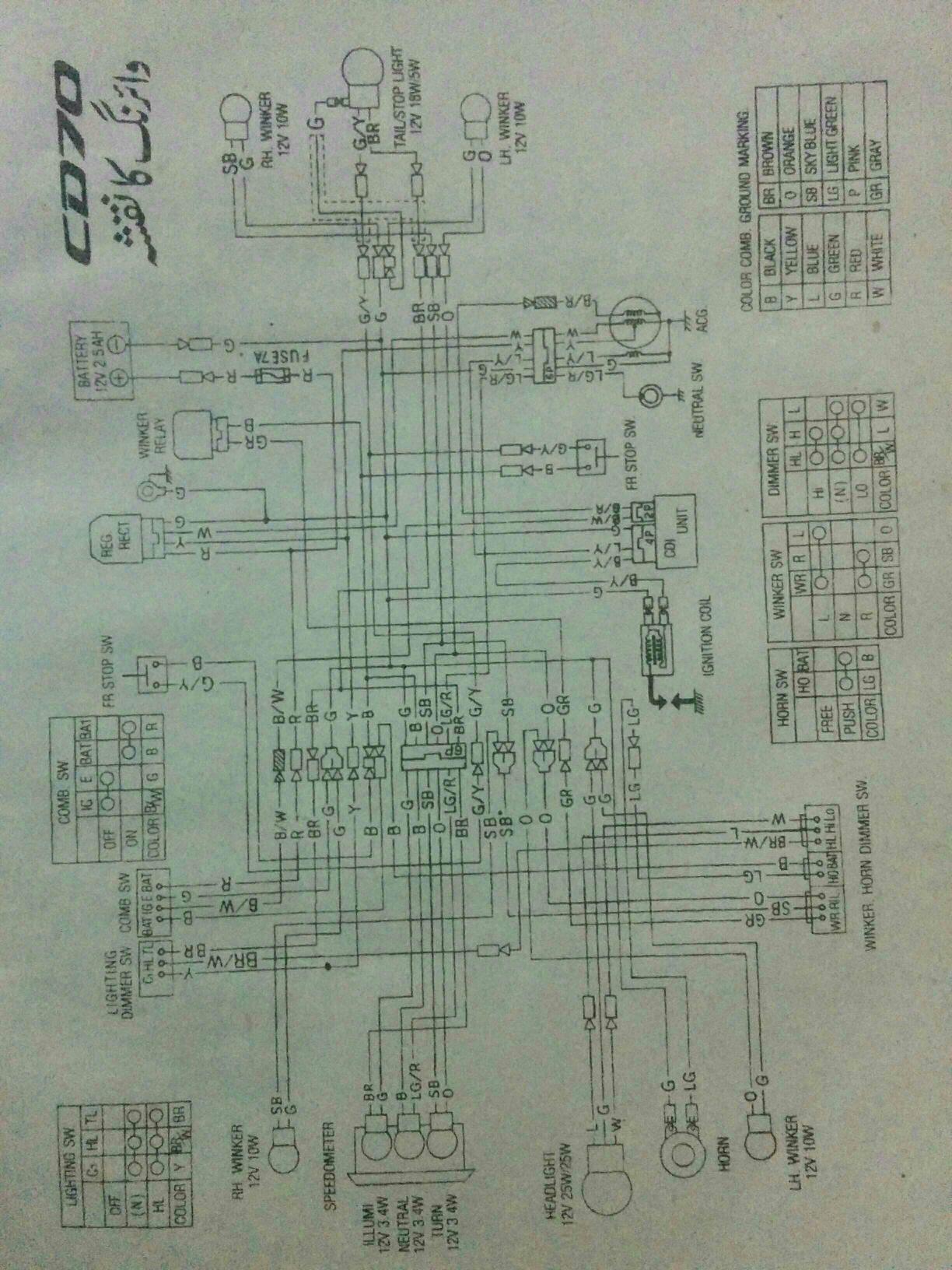 Honda Cd 70 Wiring Diagram Pdf - Bike's Collection and InfoBike's Collection and Info
