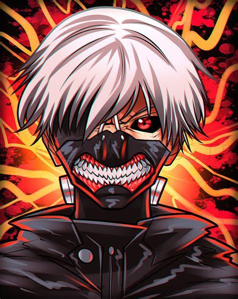 drawing kaneki  mask step  step anime characters