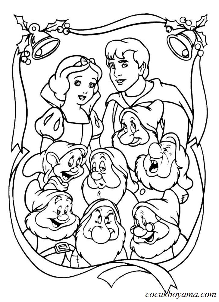 Pamuk Prenses Ve Yedi Cuceler 42 ücretsiz Boyama Resimleri