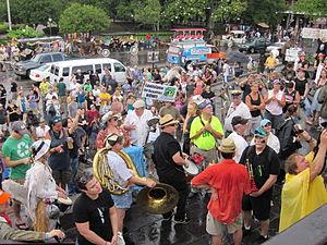 "New Orleans. ""BP Oil Flood Protest, Jacks..."
