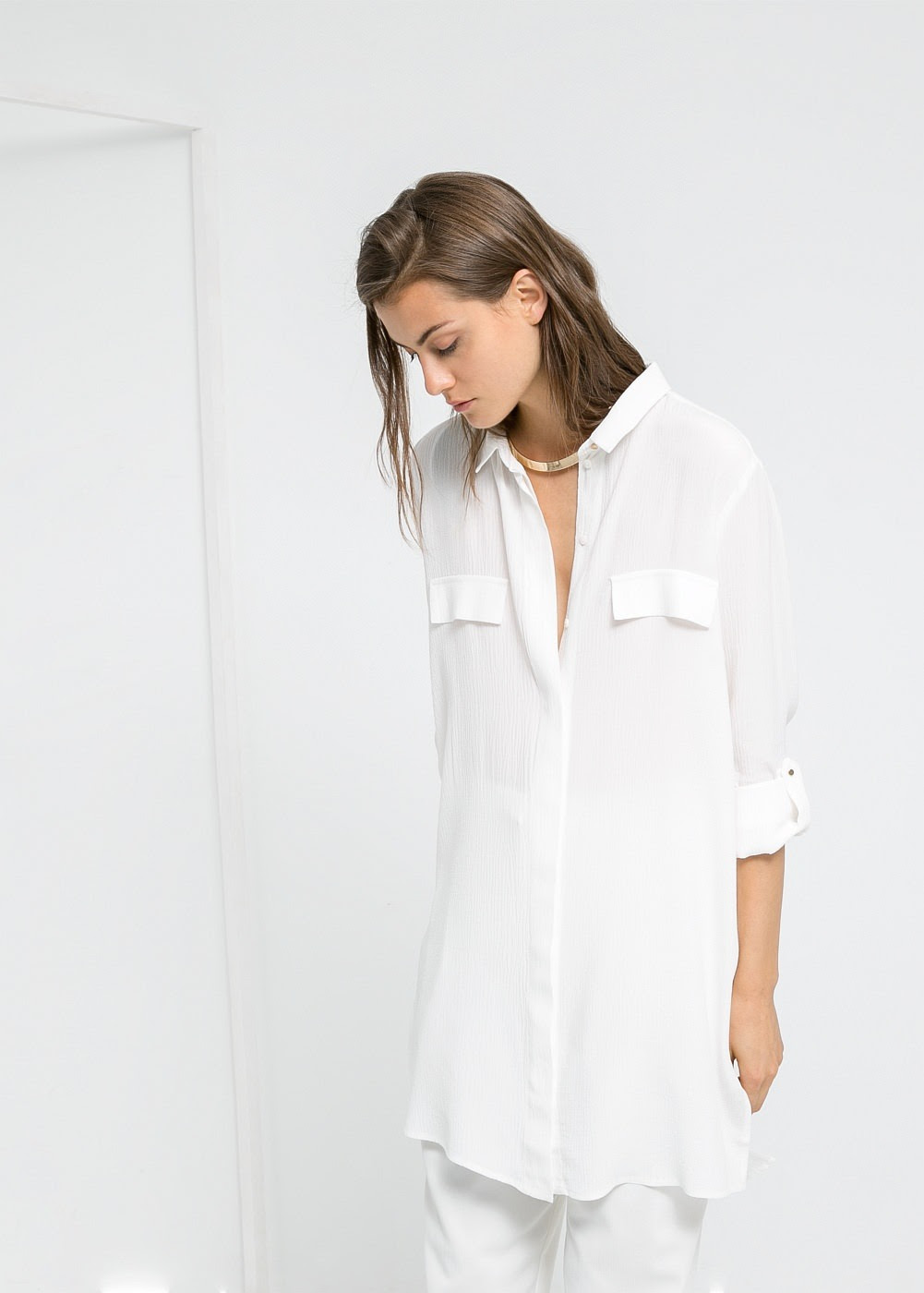 jessica154blog:  (via Textured long blouse - Women | MANGO)