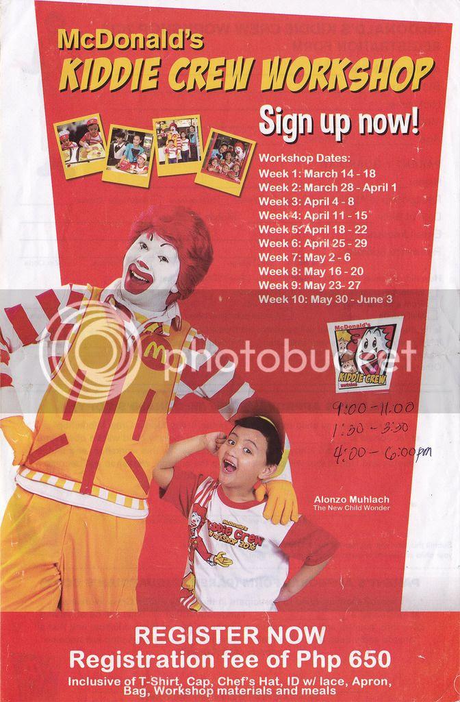 McDonalds Kiddie Crew Philippines
