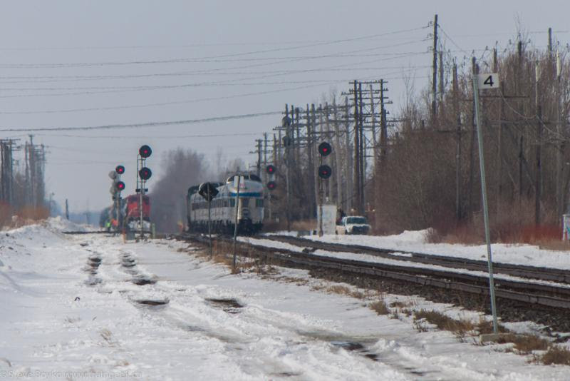 VIA Rail's Canadian meets CN in Winnipeg