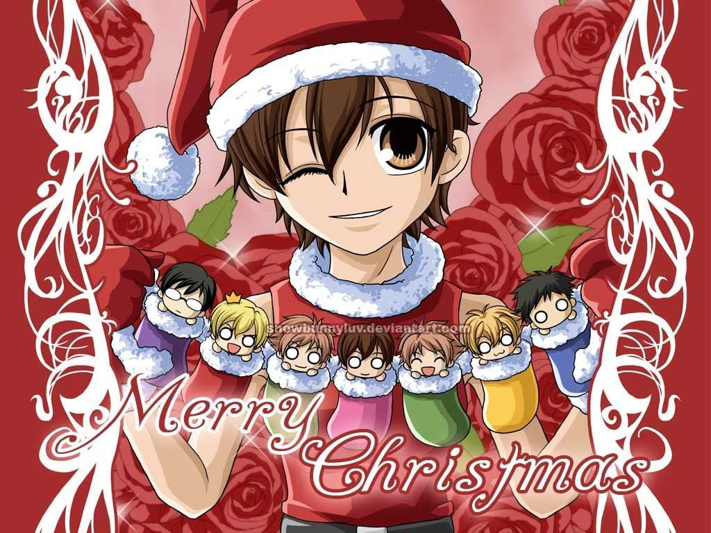 Ouranchristmas Ouran High School Host Club Wallpaper 15126130