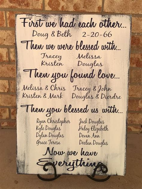 First We Had Each Other Sign   Wood Family Sign   40th