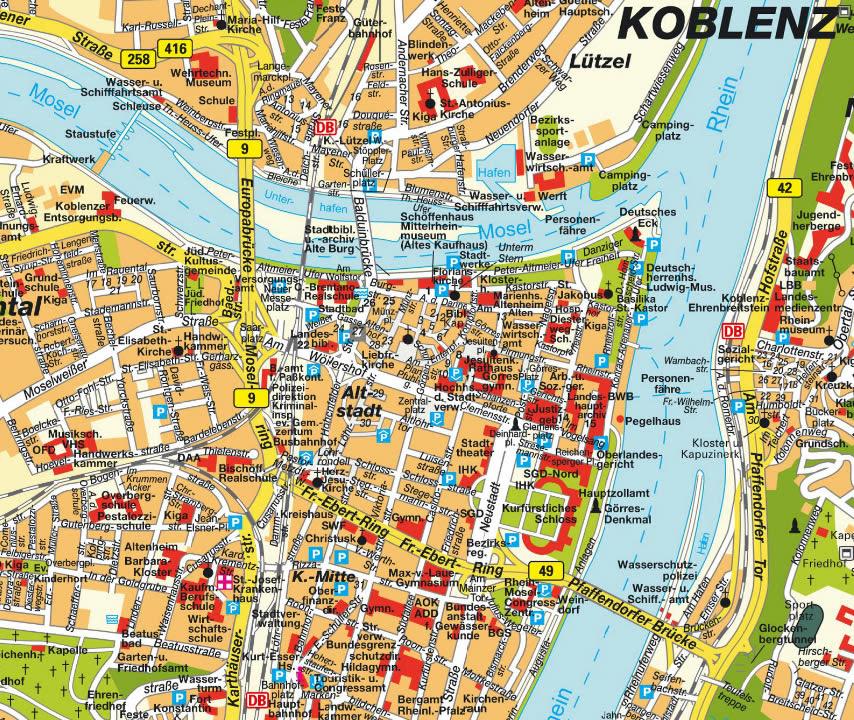 Karte Koblenz.Karte Karte Koblenz