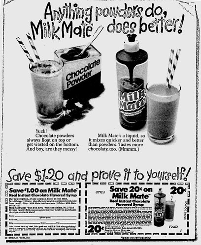 Milk Mate Newspaper Ad - 1980