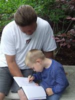 Matthew Cherry does some on-location sketching with grandpa Roland Lee