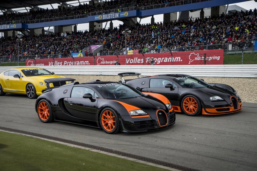 Image: Bugatti Veyron Super Sport and Veyron Grand Sport Vitesse land speed record holders, size ...