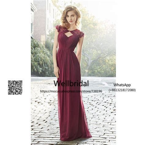 Spring 2017 Burgundy Bridesmaid Dresses Long with Lace