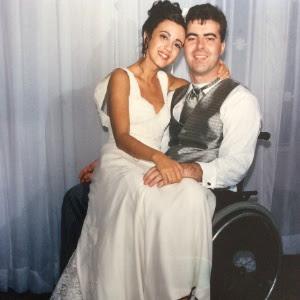 Fabiano Di Girolamo e Ana Lucia Quirino Bernardi, no dia do casamento deles