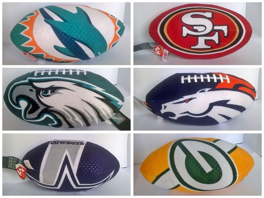 NFL Team Logo 1ft Plush TY American Football Toy  eBay