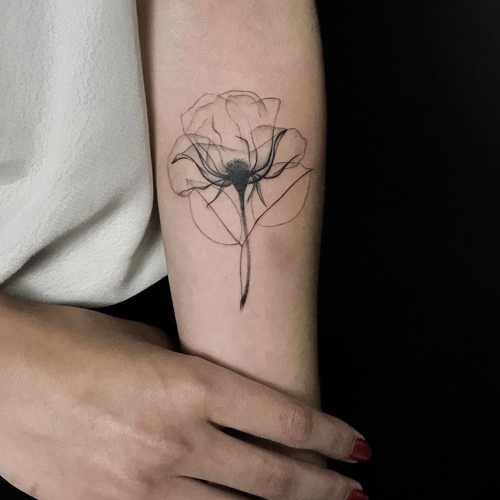 X Ray Rose Best Tattoo Design Ideas