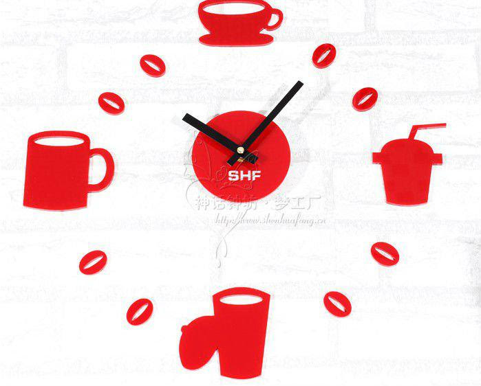 Pictures Of Stylish Cofee Time Diy Wall Stickers Clock Online | DHgate