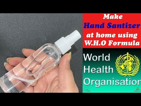 How to make Hand Sanitizer at Home using W.H.O formula