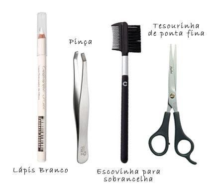 Lápis Pinça Escovinha Tesoura