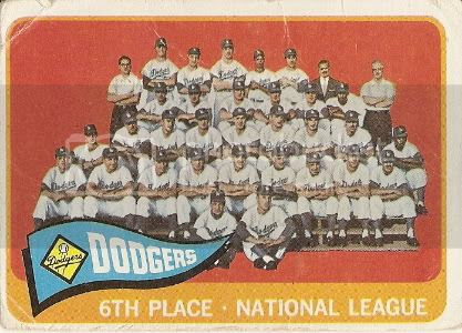 #126 Dodgers Team Card