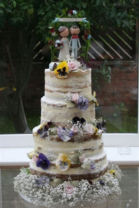 The Beauty Of The Naked Wedding Cake: 35 Inspirational