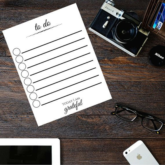 Printable To Do List - Daily To Do List - Printable Planner Pages ...