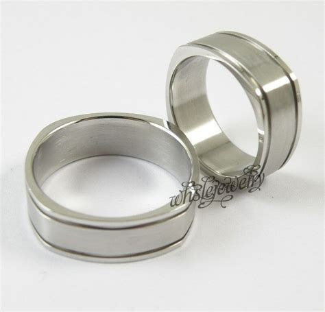 Men's Classic Square 8mm Width 316L Stainless Steel