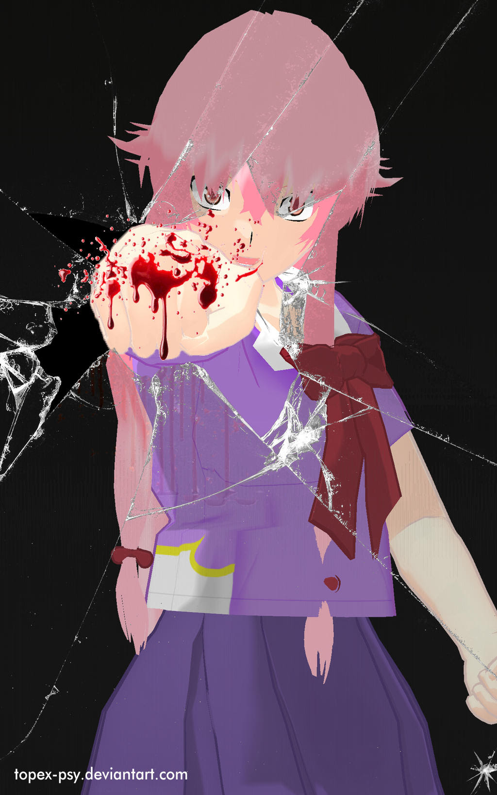 MMD Yuno Gasai Glass Punch Android Wallpaper by topexpsy on DeviantArt