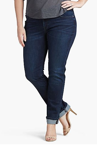 Lucky Brand Ginger Straight Leg Plus Size Jeans