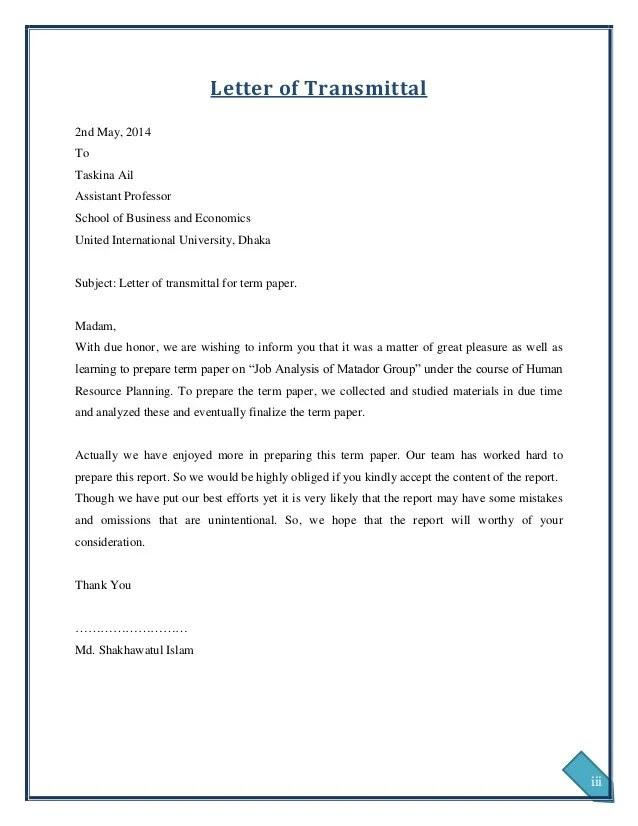 Sample Application Letter For Hrm Ojt Students