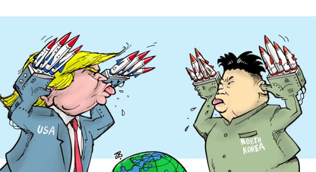 Image result for trump kim jong un comic