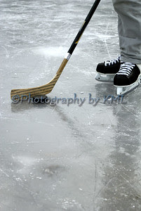 ice hockey skater in the winter