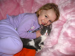 Gracie and her new kitty, Meowy